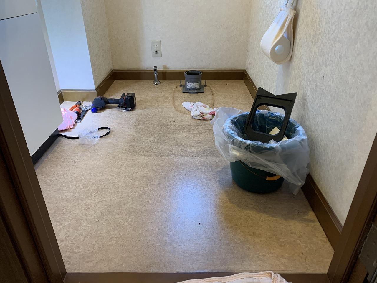 トイレ工事中